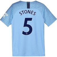 Manchester City Home Stadium Shirt 2018-19 - Kids with Stones 5 printing