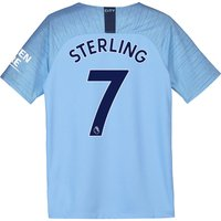 Manchester City Home Stadium Shirt 2018-19 - Kids with Sterling 7 printing