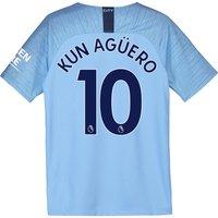 Manchester City Home Stadium Shirt 2018-19 - Kids with Kun Agüero  10 printing