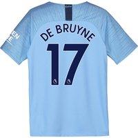 Manchester City Home Stadium Shirt 2018-19 - Kids with De Bruyne 17 printing