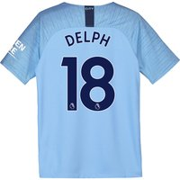 Manchester City Home Stadium Shirt 2018-19 - Kids with Delph 18 printing