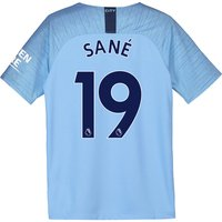 Manchester City Home Stadium Shirt 2018-19 - Kids with Sané 19 printing