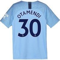 Manchester City Home Stadium Shirt 2018-19 - Kids with Otamendi 30 printing