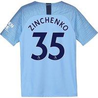 Manchester City Home Stadium Shirt 2018-19 - Kids with Zinchenko 35 printing