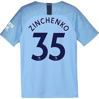 Manchester City Home Stadium Shirt 2018-19 - Kids with Zinchenko 35 printing