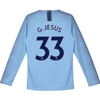 Manchester City Home Stadium Shirt 2018-19 - Long Sleeve - Kids with G.Jesus 33 printing