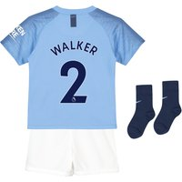 Manchester City Home Stadium Kit 2018-19 - Little Kids with Walker 2 printing