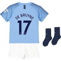 Manchester City Home Stadium Kit 2018-19 - Infants with De Bruyne 17 printing