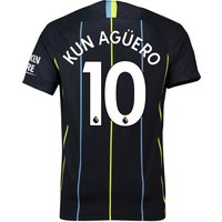 Manchester City Away Stadium Shirt 2018-19 with Kun Agüero  10 printing