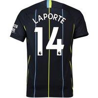 Manchester City Away Stadium Shirt 2018-19 with Laporte 14 printing