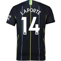 Manchester City Away Stadium Shirt 2018-19 with Laporte 14 printing