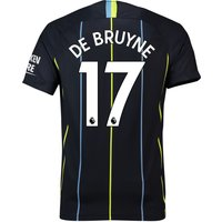 Manchester City Away Stadium Shirt 2018-19 with De Bruyne 17 printing