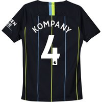 Manchester City Away Stadium Shirt 2018-19 - Kids with Kompany 4 printing