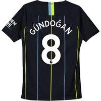 Manchester City Away Stadium Shirt 2018-19 - Kids with Gündogan 8 printing