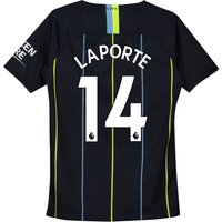 Manchester City Away Stadium Shirt 2018-19 - Kids with Laporte 14 printing