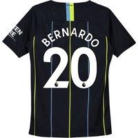 Manchester City Away Stadium Shirt 2018-19 - Kids with Bernardo 20 printing