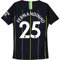 Manchester City Away Stadium Shirt 2018-19 - Kids with Fernandinho 25 printing