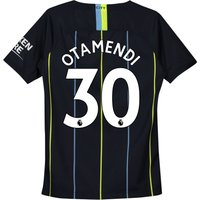 Manchester City Away Stadium Shirt 2018-19 - Kids with Otamendi 30 printing