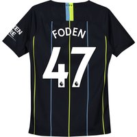 Manchester City Away Stadium Shirt 2018-19 - Kids with Foden 47 printing