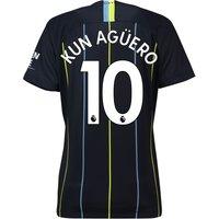 Manchester City Away Stadium Shirt 2018-19 - Womens with Kun Agüero  10 printing