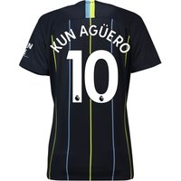 Manchester City Away Stadium Shirt 2018-19 - Womens with Kun Agüero  10 printing