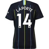 Manchester City Away Stadium Shirt 2018-19 - Womens with Laporte 14 printing