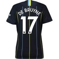 Manchester City Away Stadium Shirt 2018-19 - Womens with De Bruyne 17 printing