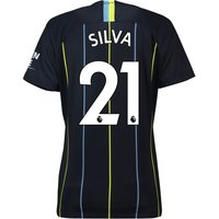 Manchester City Away Stadium Shirt 2018-19 - Womens with Silva 21 printing