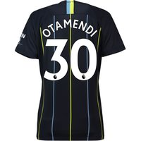 Manchester City Away Stadium Shirt 2018-19 - Womens with Otamendi 30 printing
