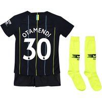 Manchester City Away Stadium Kit 2018-19 - Little Kids with Otamendi 30 printing