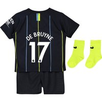 Manchester City Away Stadium Kit 2018-19 - Infants with De Bruyne 17 printing