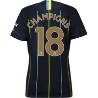 Manchester City Away Stadium Shirt 2018-19 - Womens with Champions 18 printing