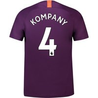 Manchester City Third Stadium Shirt 2018-19 with Kompany 4 printing