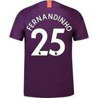 Manchester City Third Stadium Shirt 2018-19 with Fernandinho 25 printing