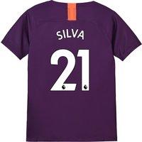 Manchester City Third Stadium Shirt 2018-19 - Kids with Silva 21 printing