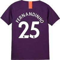 Manchester City Third Stadium Shirt 2018-19 - Kids with Fernandinho 25 printing