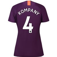 Manchester City Third Stadium Shirt 2018-19 - Womens with Kompany 4 printing