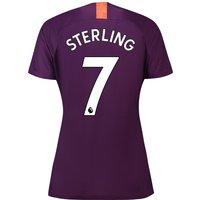 Manchester City Third Stadium Shirt 2018-19 - Womens with Sterling 7 printing