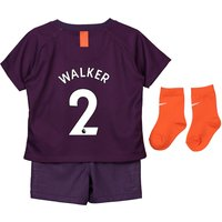 Manchester City Third Stadium Kit 2018-19 - Infants with Walker 2 printing