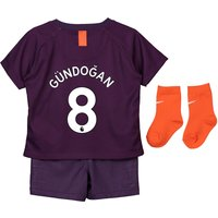 Manchester City Third Stadium Kit 2018-19 - Infants with Gündogan 8 printing