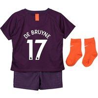 Manchester City Third Stadium Kit 2018-19 - Infants with De Bruyne 17 printing