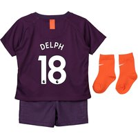Manchester City Third Stadium Kit 2018-19 - Infants with Delph 18 printing
