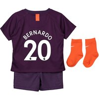 Manchester City Third Stadium Kit 2018-19 - Infants with Bernardo 20 printing