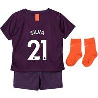 Manchester City Third Stadium Kit 2018-19 - Infants with Silva 21 printing