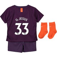 Manchester City Third Stadium Kit 2018-19 - Infants with G.Jesus 33 printing