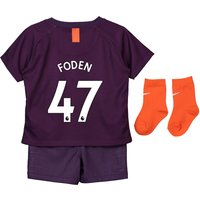 Manchester City Third Stadium Kit 2018-19 - Infants with Foden 47 printing