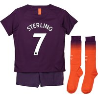 Manchester City Third Stadium Kit 2018-19 - Little Kids with Sterling 7 printing