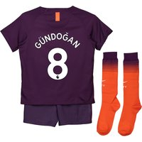 Manchester City Third Stadium Kit 2018-19 - Little Kids with Gündogan 8 printing