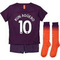 Manchester City Third Stadium Kit 2018-19 - Little Kids with Kun Agüero  10 printing