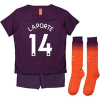 Manchester City Third Stadium Kit 2018-19 - Little Kids with Laporte 14 printing